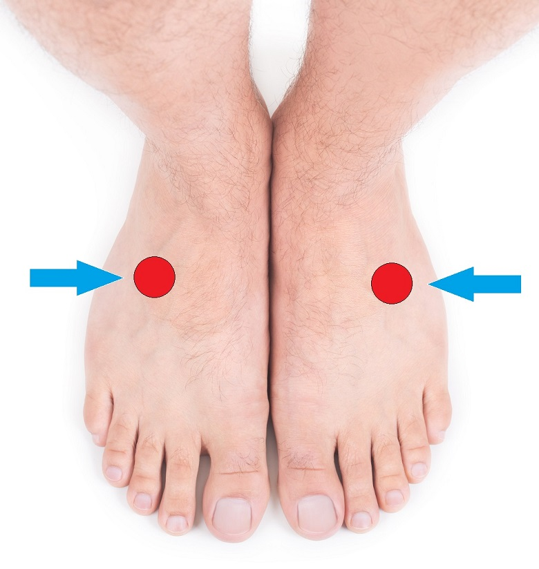 reaction spot on foot for back pain